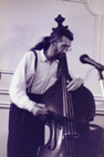 Peter Morgan, double bass player at the Tunbridge Wells Jazz club